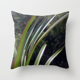 Sunlight Strikes the Screw Pine Throw Pillow