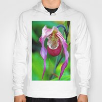 orchid Hoodies featuring Orchid by Trevor Jolley
