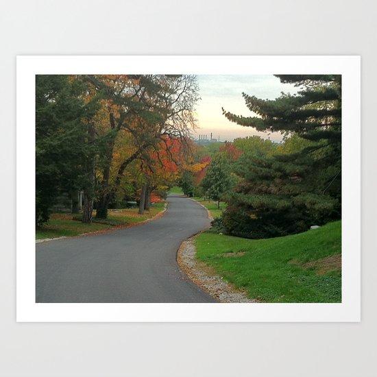 Autumn Romance Art Print