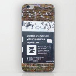 Camden moorings sign iPhone Skin