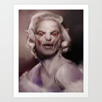 marylin monroe Art Prints featuring Marylin by AnastasiyaCemetery