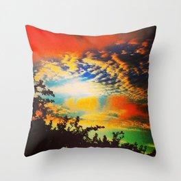 Popsicle Sky Throw Pillow
