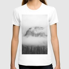 The Foggy Mountain (Black and White) T-shirt