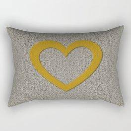 Giant Gold Heart Rectangular Pillow