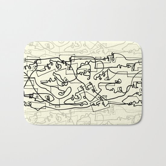 Curves And Lines Bath Mat