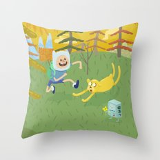 adventure friends Throw Pillow