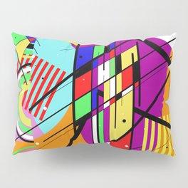 Crazy Retro 2 - Abstract, geometric, random collage Pillow Sham