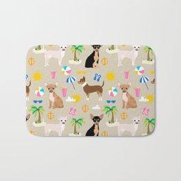 Chihuahua beach summer tropical cute chihuahuas dog gifts Bath Mat