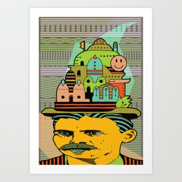 GLAD HATTER 5 Art Print