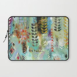 """""""Fly Free Between"""" Original Painting by Flora Bowley Laptop Sleeve"""
