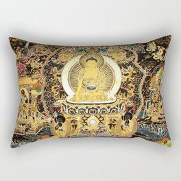 Buddha Life Autumn Gold Thangka Rectangular Pillow