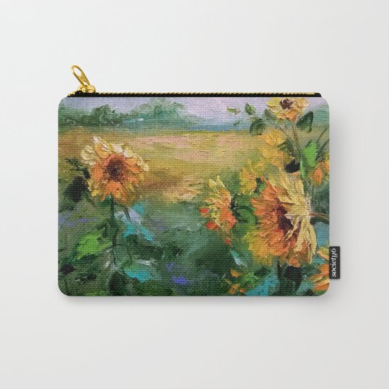 Sunflowers in the wind Carry-All Pouch