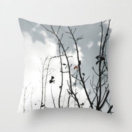 The Last To Fall Throw Pillow