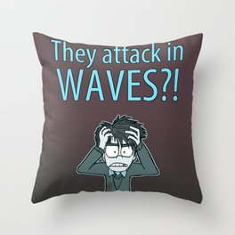 Guardian Ghost- THEY COME IN WAVES Throw Pillow