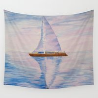 serenity Wall Tapestries featuring Serenity by Ana Lillith Bar