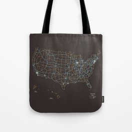 US Highways Tote Bag