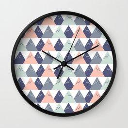 Mod Mountains v.3 Wall Clock