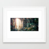 sci fi Framed Art Prints featuring Sci fi china town by David Cheung