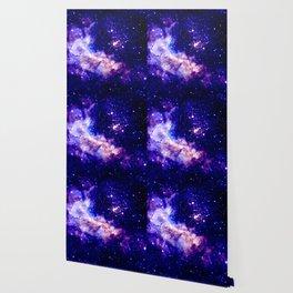 indigo galaxy : Celestial Fireworks Wallpaper