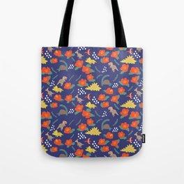 Dinosaurs in camellia garden Tote Bag