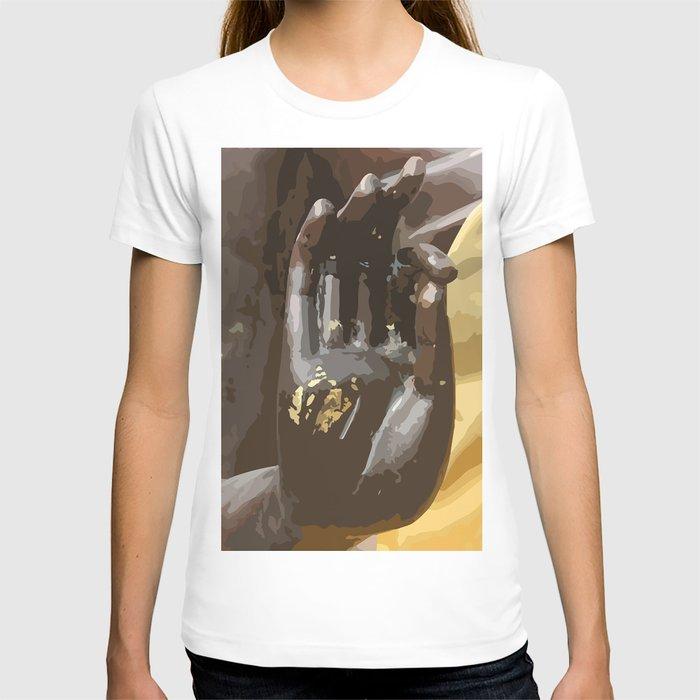 Buddha Hand Illustration T-shirt