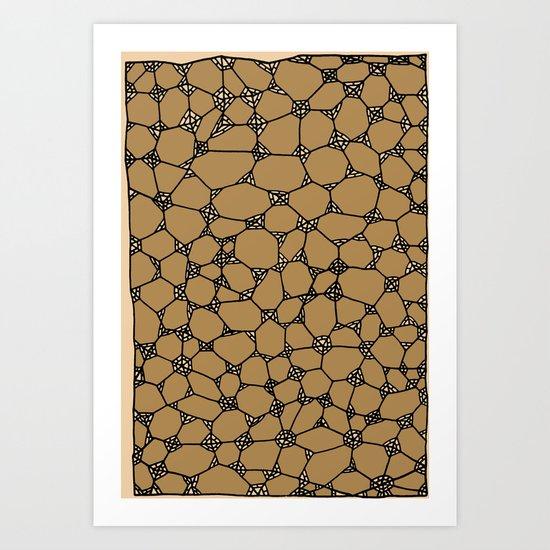 Yzor pattern 006-2 kitai beige Art Print