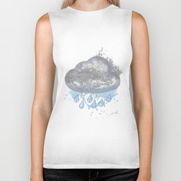 Cloud Splash Emoji Biker Tank