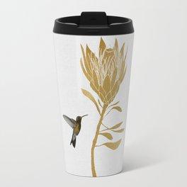 Hummingbird & Flower I Travel Mug