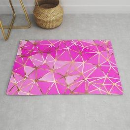Triangles Gold Geometric 1 Rug