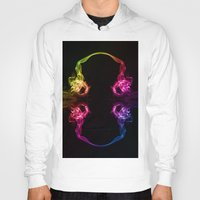 headphones Hoodies featuring Headphones by Steve Purnell