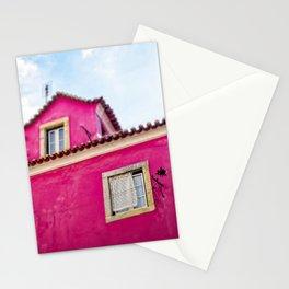 Hot Pink Alfama House, Lisbon, Portugal Stationery Cards