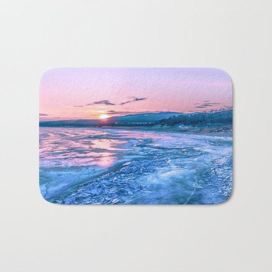 Baikal sunrise Bath Mat