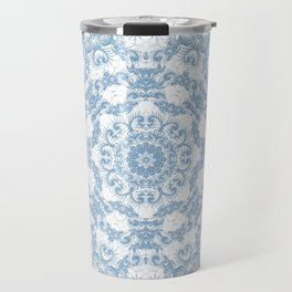 Blue and White Mandala Travel Mug