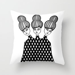 Avery, Autumn and Anna Throw Pillow