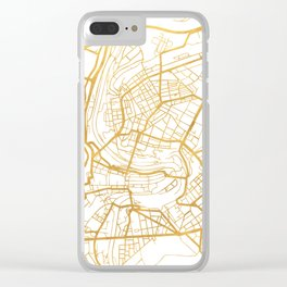 BERN SWITZERLAND CITY STREET MAP ART Clear iPhone Case