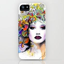 Fantasy Flower Girl iPhone Case