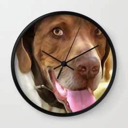 Arthur The Hunting Dog Wall Clock