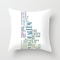 manhattan Throw Pillows featuring Manhattan  by theov6