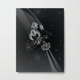 Intergalactic Pest Control Metal Print