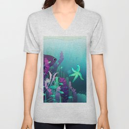 Deep down in the water Unisex V-Neck