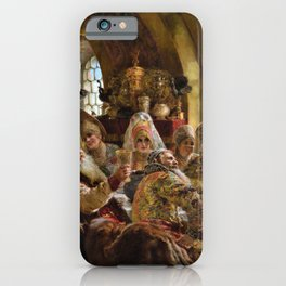 A Boyar Wedding Feast - Konstantin Makovsky iPhone Case