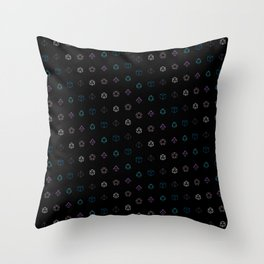 Dungeons and Dragons Aesthetic Dice Throw Pillow