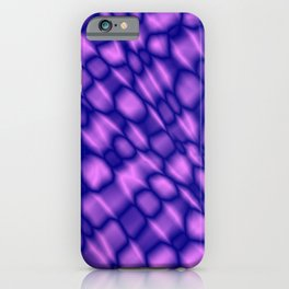 The intersection of poisonous droplets of a eggplant grid of dark cracks on the glass. iPhone Case