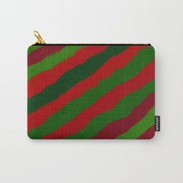 Red and Green Christmas Wrapping Paper Carry-All Pouch