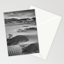 Wind traces at the desert Stationery Cards