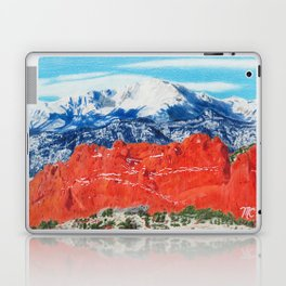 Pikes Peak Behind the Garden of the Gods Laptop & iPad Skin