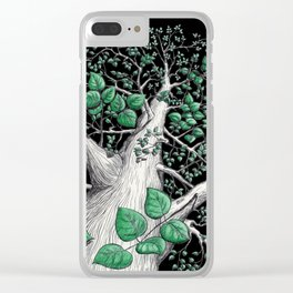 Big tree in black Clear iPhone Case