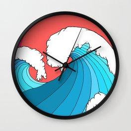 The 3 big waves Wall Clock