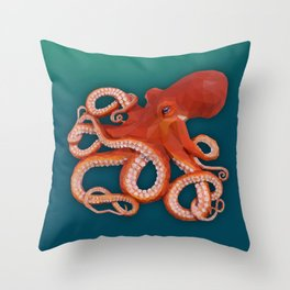 Geometric Octopus Throw Pillow