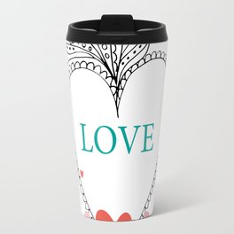 colorful love Travel Mug